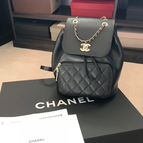 8c804b60088c CHANEL Bags | Business Affinity Backpack Black Caviar | Poshmark